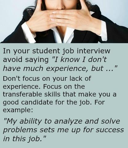 Student Job Interviews