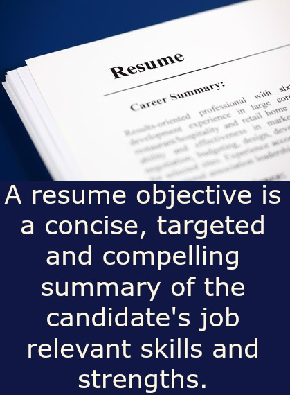 What is a resume objective?