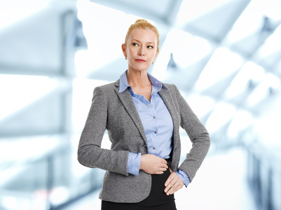 woman dressed for interview
