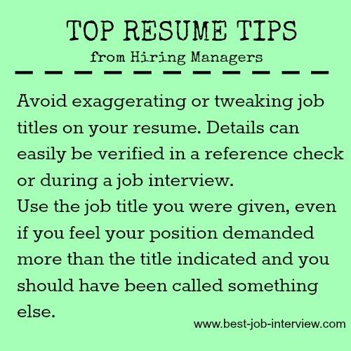 Resume mistakes to avoid.
