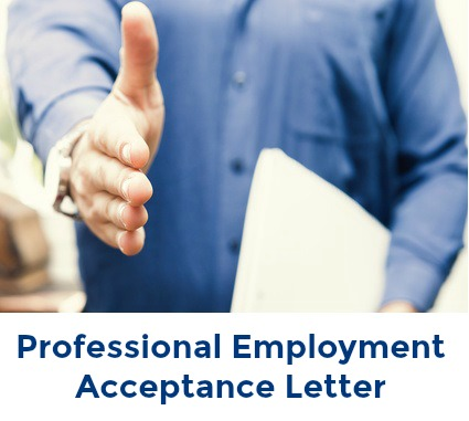 Sample Employment Acceptance Letter and Email