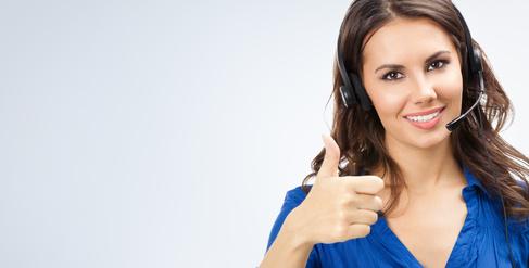 customer service thumbs up