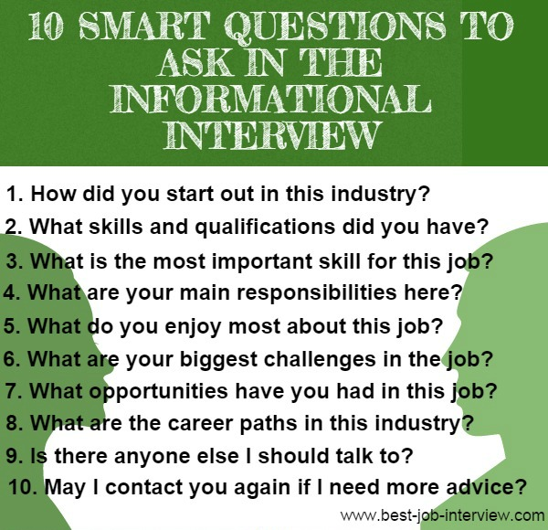 10 Informational Interview Questions