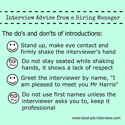 Interview Advice - Introductions