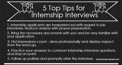 5 Tips for Internship Interviews