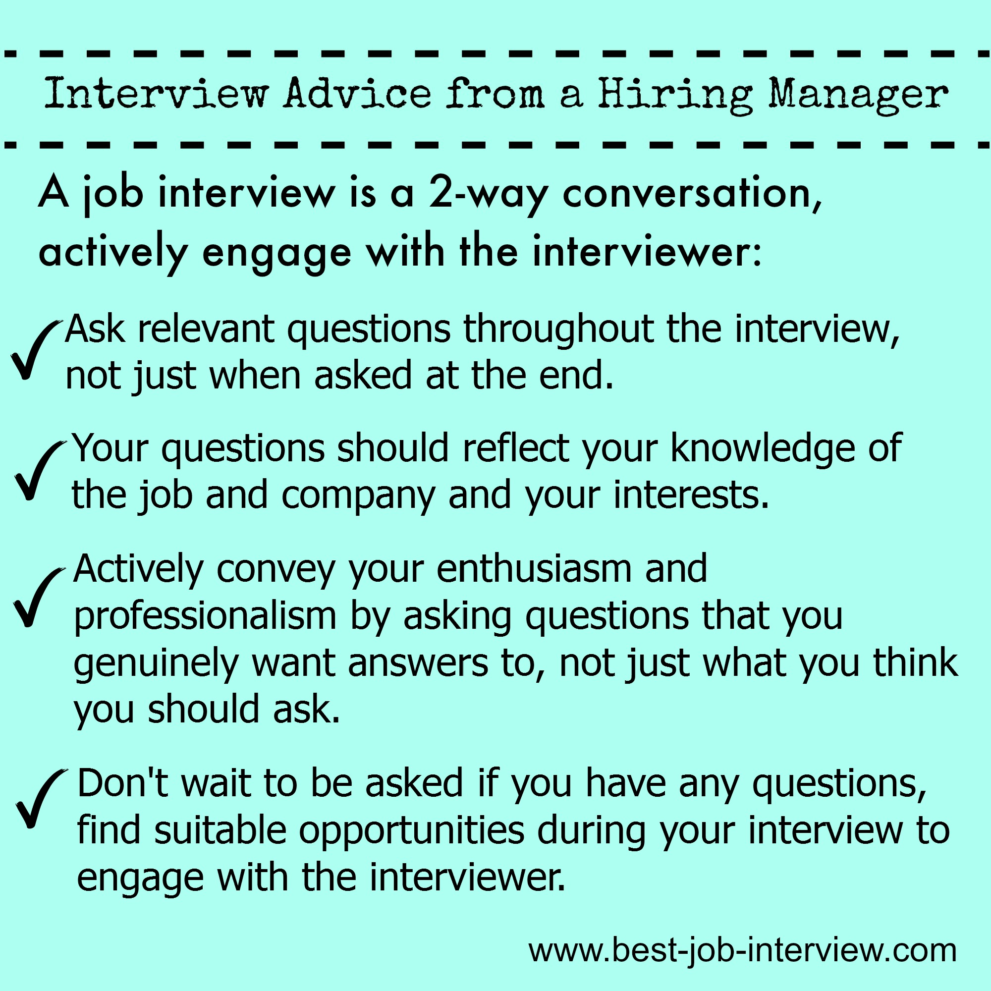 Enagage in Your Interview