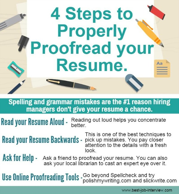 Proofread resume