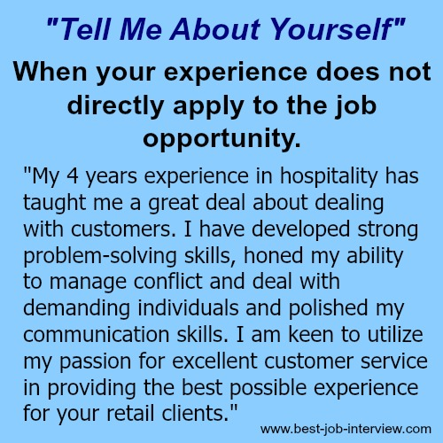 "tell me about yourself This is the most popular blog post of 2014 see the rest of the top 15 here if you have ever been in an interview, then you have undoubtedly had to answer the ""tell me about yourself."
