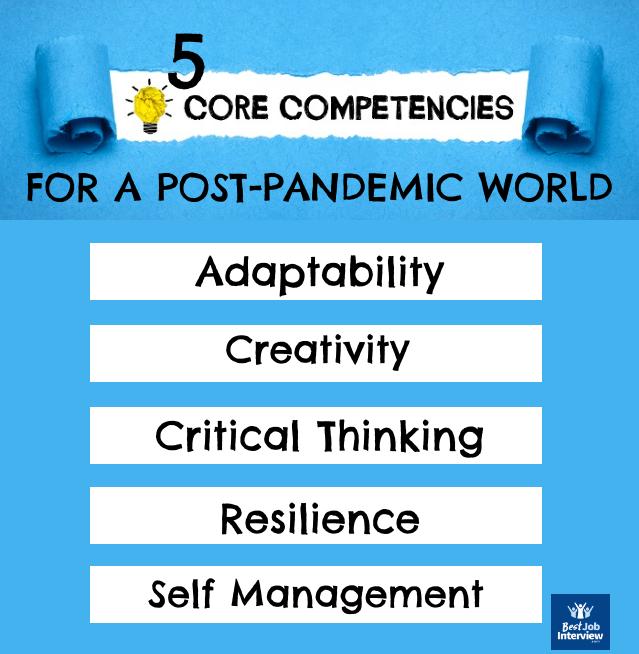5 core competencies for a post Covid-19 world diagram