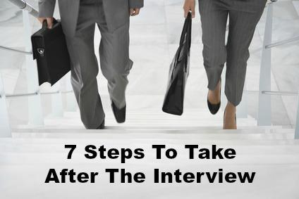 after an interview