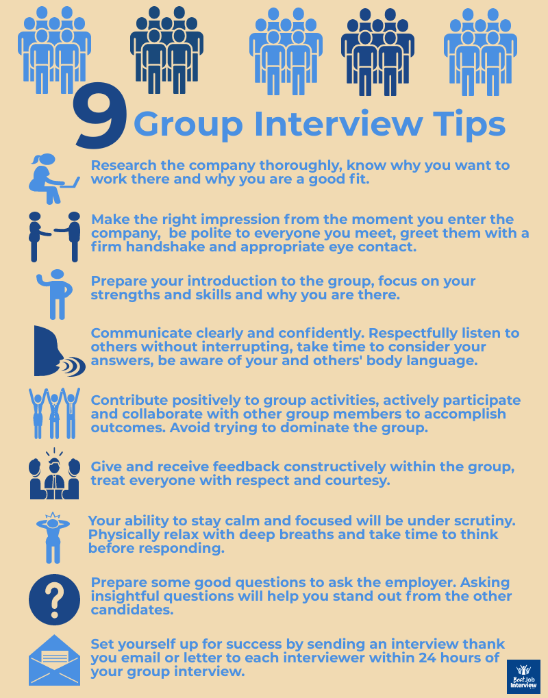 Best group interview tips