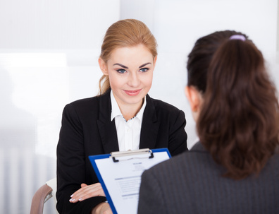 Two women in interview