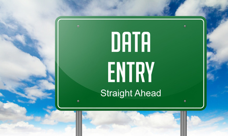 Data Entry Sign