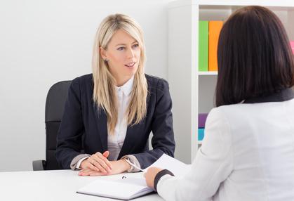 Interview body language posture