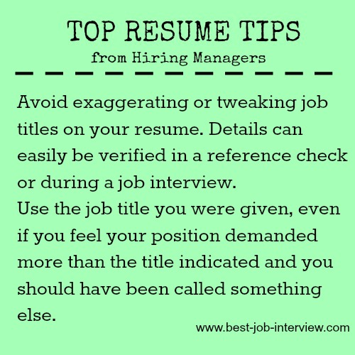 Resume mistakes to avoid.