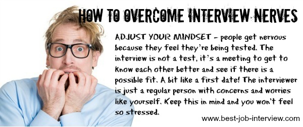 Manage your interview anxiety