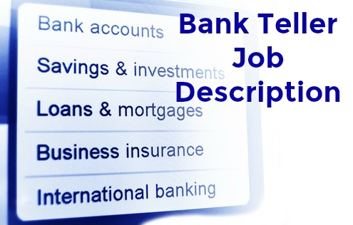 Job description forex teller
