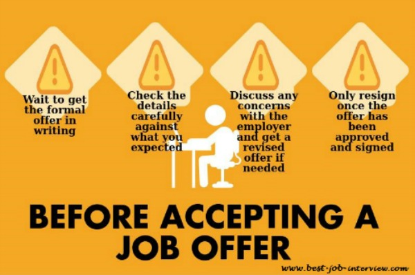 the right job offer advice