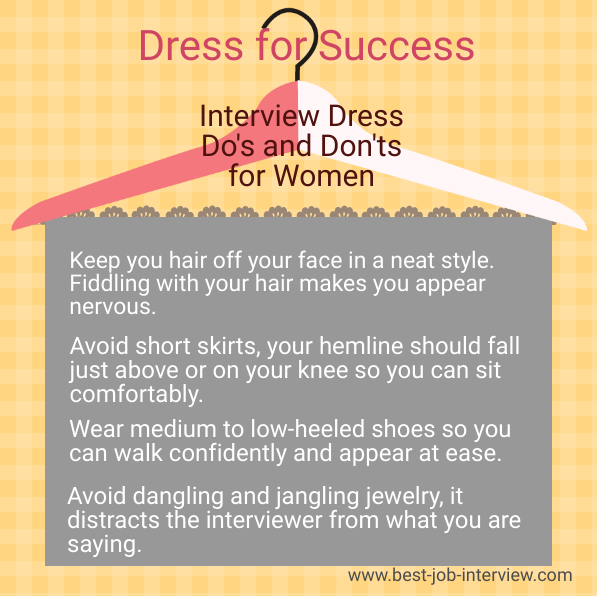 Interview dress tips listed for executive assistants