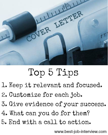 Create a Cover Letter - job application cover letter tips