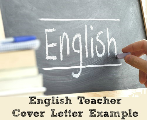 English Teacher Cover Letter Example