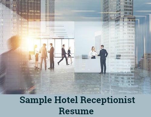 Hotel Receptionist Job Description