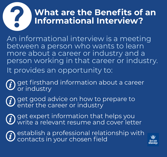 The benefits of an informational interview