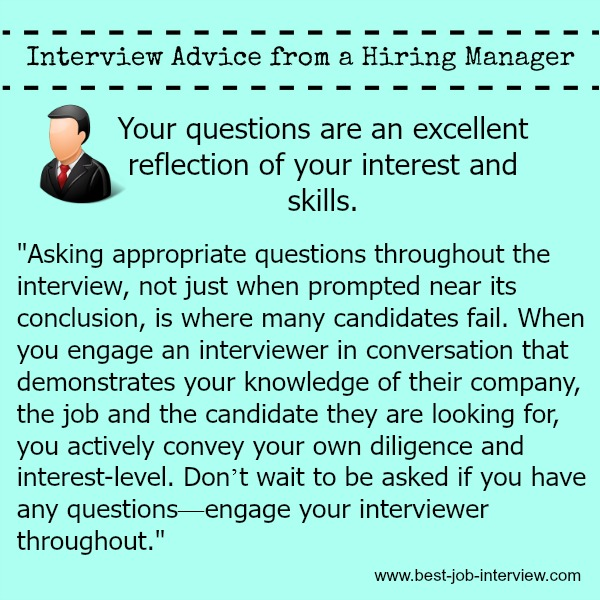 top questions to ask interviewer