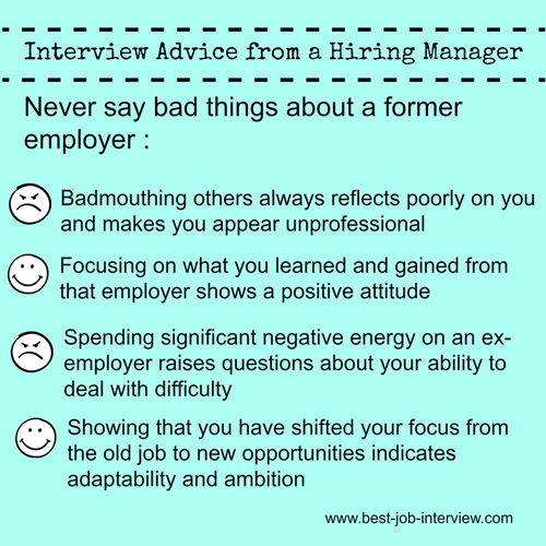 Interview Advice - Badmouthing