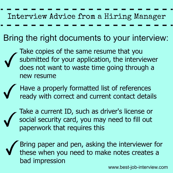 Interview Documents