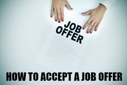 the job offer acceptance letter