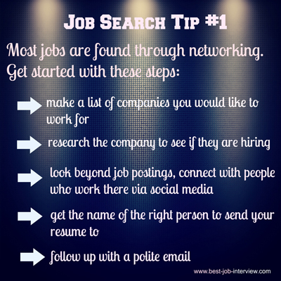 Job Search Tip #1