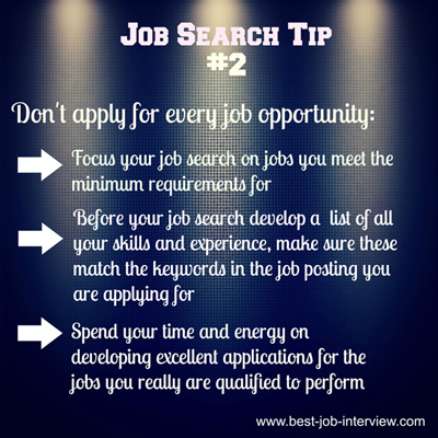 Job Search Tip #2