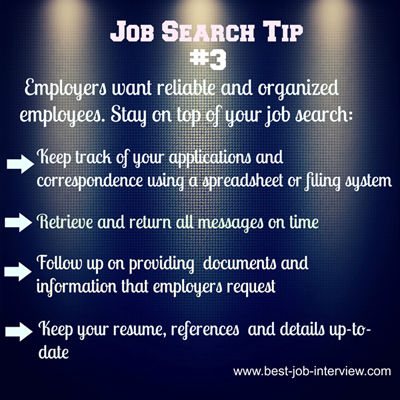 Job Search Tip #3