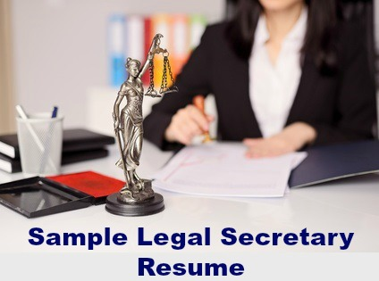 Job Winning Sample Legal Secretary Resume
