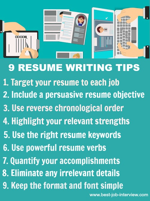 9 Tips On Writing A Resume