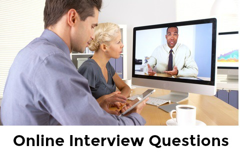 Employer and candidate in an online interview