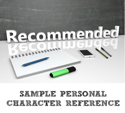 Personal Character Reference Letter