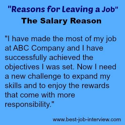 Reasons For Leaving A Job