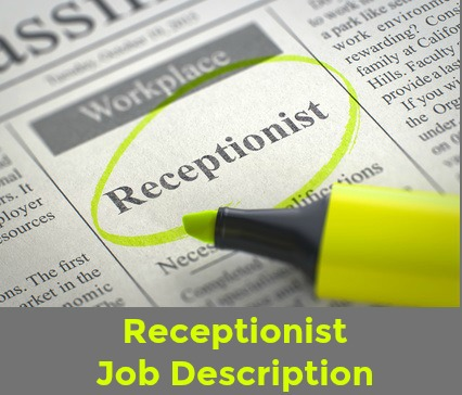 Sample Receptionist Job Description