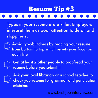 Resume Building Tip #3