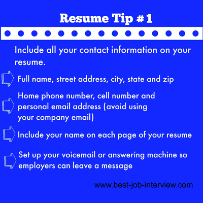Resume Building Tips #1