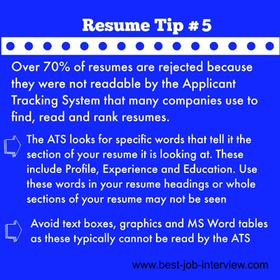 Resume Building Tips #5