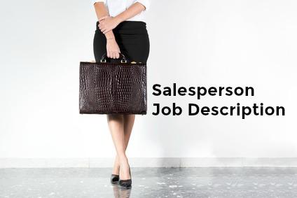 Salesperson holding briefcase