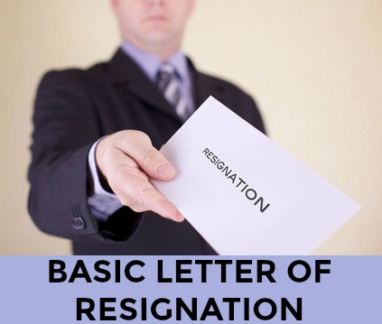 simple resignation letter sample
