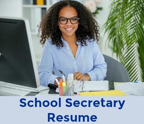 School secretary at desk