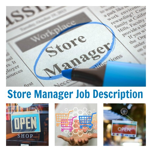 Sample Store Manager Job Description