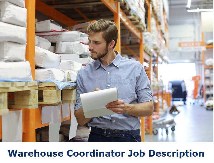Warehouse coordinator at work in warehouse