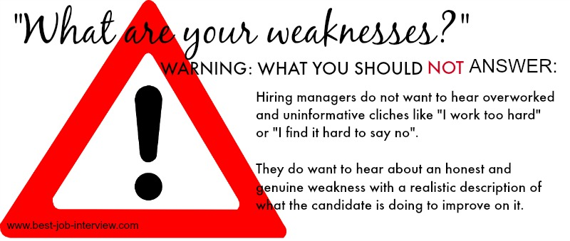 interview questions strengths and weakness
