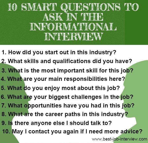 10 preguntas informativas de la entrevista